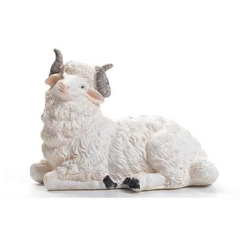 Sheep nativity figurine in resin 50cm 1