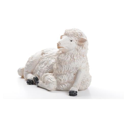 Sheep for nativity scene in resin 50cm 2