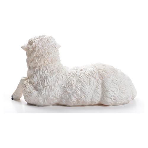 Sheep for nativity scene in resin 50cm 3