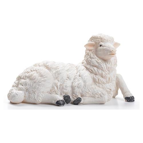 Sheep for nativity scene in resin 50cm 1