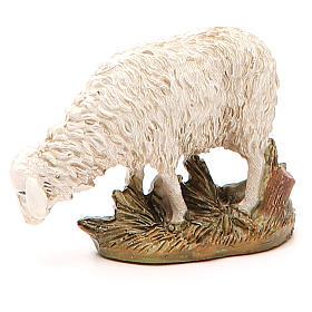 Sheep looking down in painted resin, 12cm Martino Landi Nativity s1
