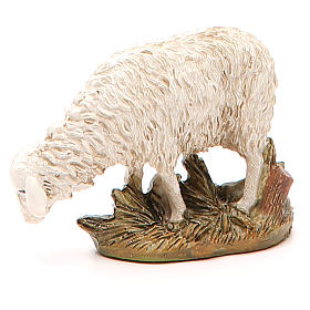Sheep looking down in painted resin, 12cm Martino Landi Nativity s1