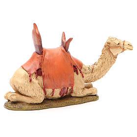 Camelo sentado resina pintada para presépio 12 cm Linha Martino Landi s2