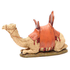 Sitting camel in painted resin Martino Landi 12 cm crib s1