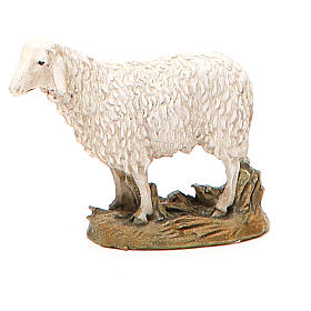 Animals for Nativity Scene: Sheep looking up in painted resin, 10cm Martino Landi Nativity