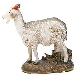 Animales para el pesebre: Cabra resina pintada para belén cm 10 Línea Landi