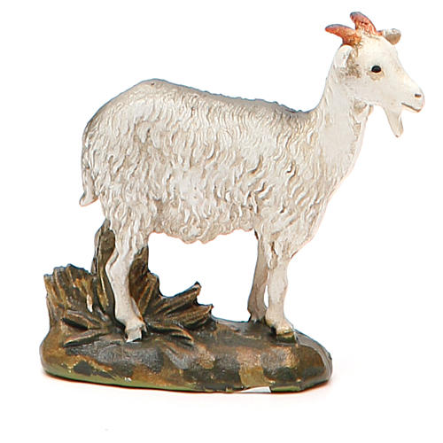 Cabra resina pintada para belén cm 10 Línea Landi 4