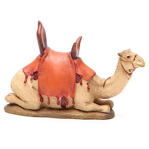 Sitting camel in painted resin, 10cm Martino Landi Nativity 2