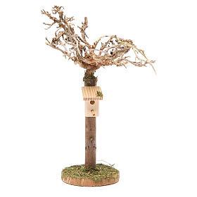 Albero con casetta degli uccellini h. 16x4 cm s1
