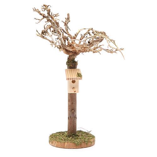 Albero con casetta degli uccellini h. 16x4 cm 1