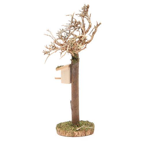 Albero con casetta degli uccellini h. 16x4 cm 2