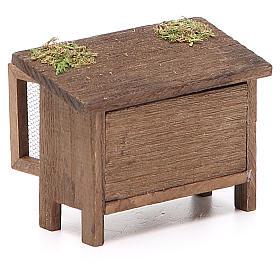Conigliera in legno per presepe h. 6x7x3 cm s3