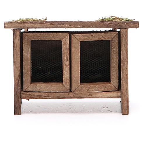 Conigliera in legno per presepe h. 6x7x3 cm 1