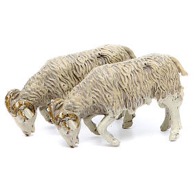 Animals for Nativity Scene: Ram in resin for nativities of 25 cm, 2 pieces