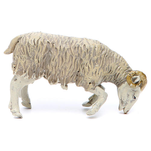 Ram in resin for nativities of 25 cm, 2 pieces 2