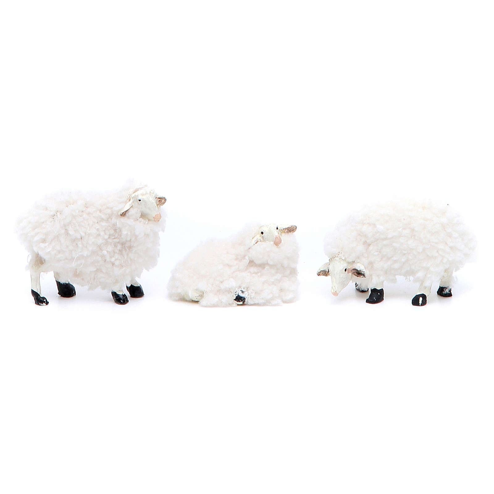 Agnello resina e lana 10 cm 6 pezzi 3