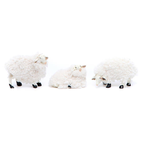 Agnello resina e lana 10 cm 6 pezzi 2