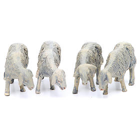 Sheep in resin 4 pieces 25 cm crib s1