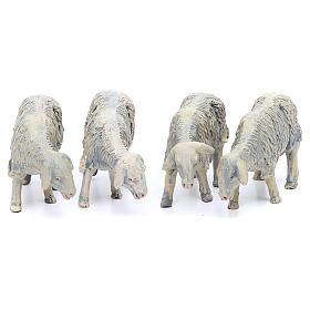 Pecore in resina per presepe da 25 cm 4 pezzi s1