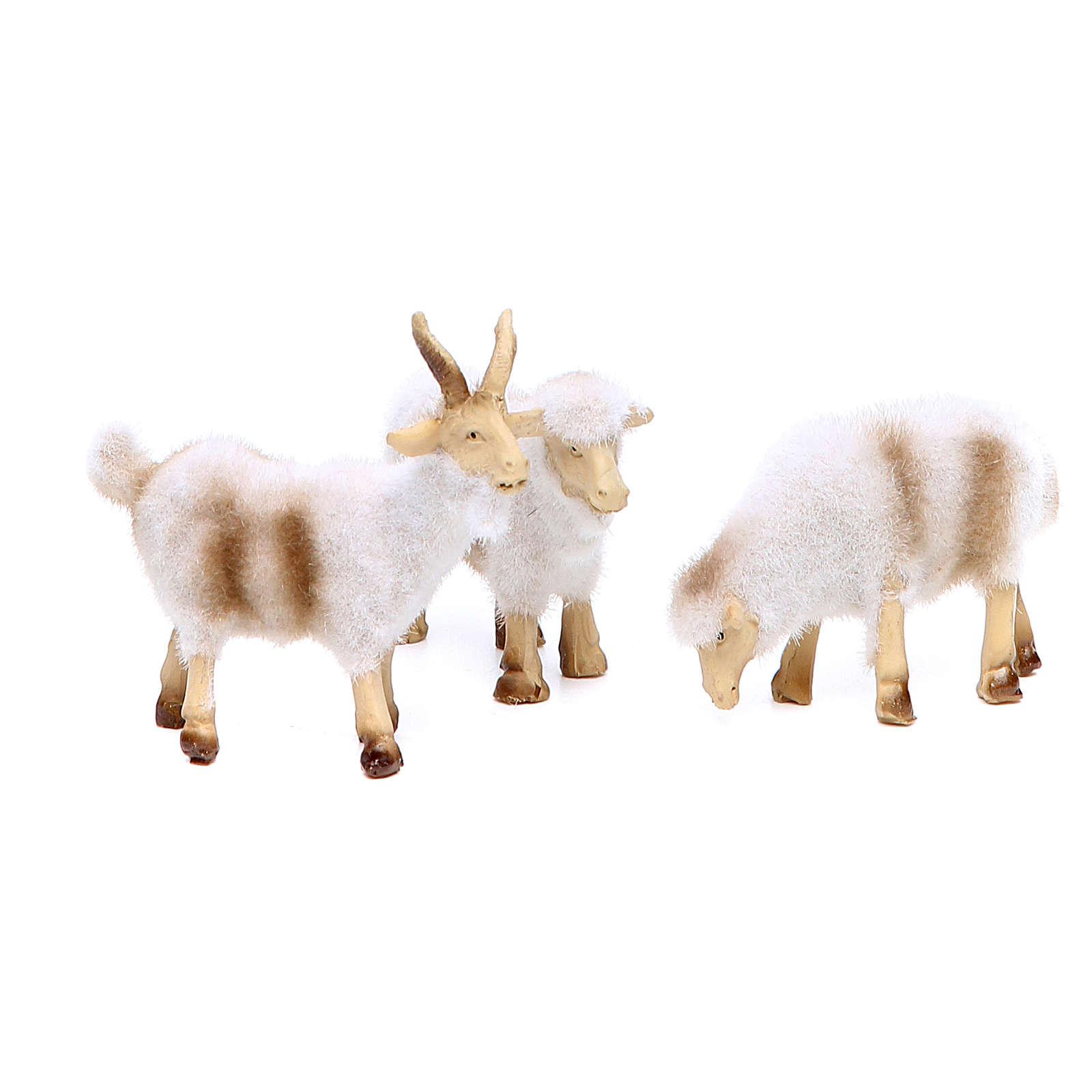 Pecore in resina peluche cm 8/10 assortiti 5 pezzi 3