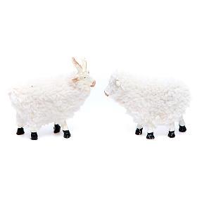 Pecora in resina e lana cm 8/10 confezione 5 pezzi s2