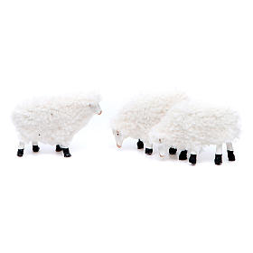 Pecora in resina e lana cm 8/10 confezione 5 pezzi s3