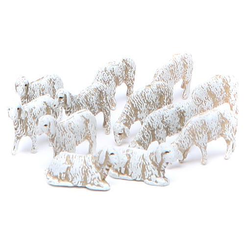 Sheep by Moranduzzo for 6cm nativity scene, set of 12 1