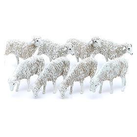 Pecore 12 cm Presepe Moranduzzo 8 pz s1