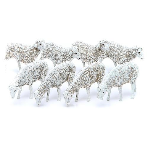 Pecore 12 cm Presepe Moranduzzo 8 pz 1