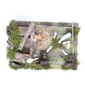 Corral con ovejas 9,5x20x14 cm para belén s5