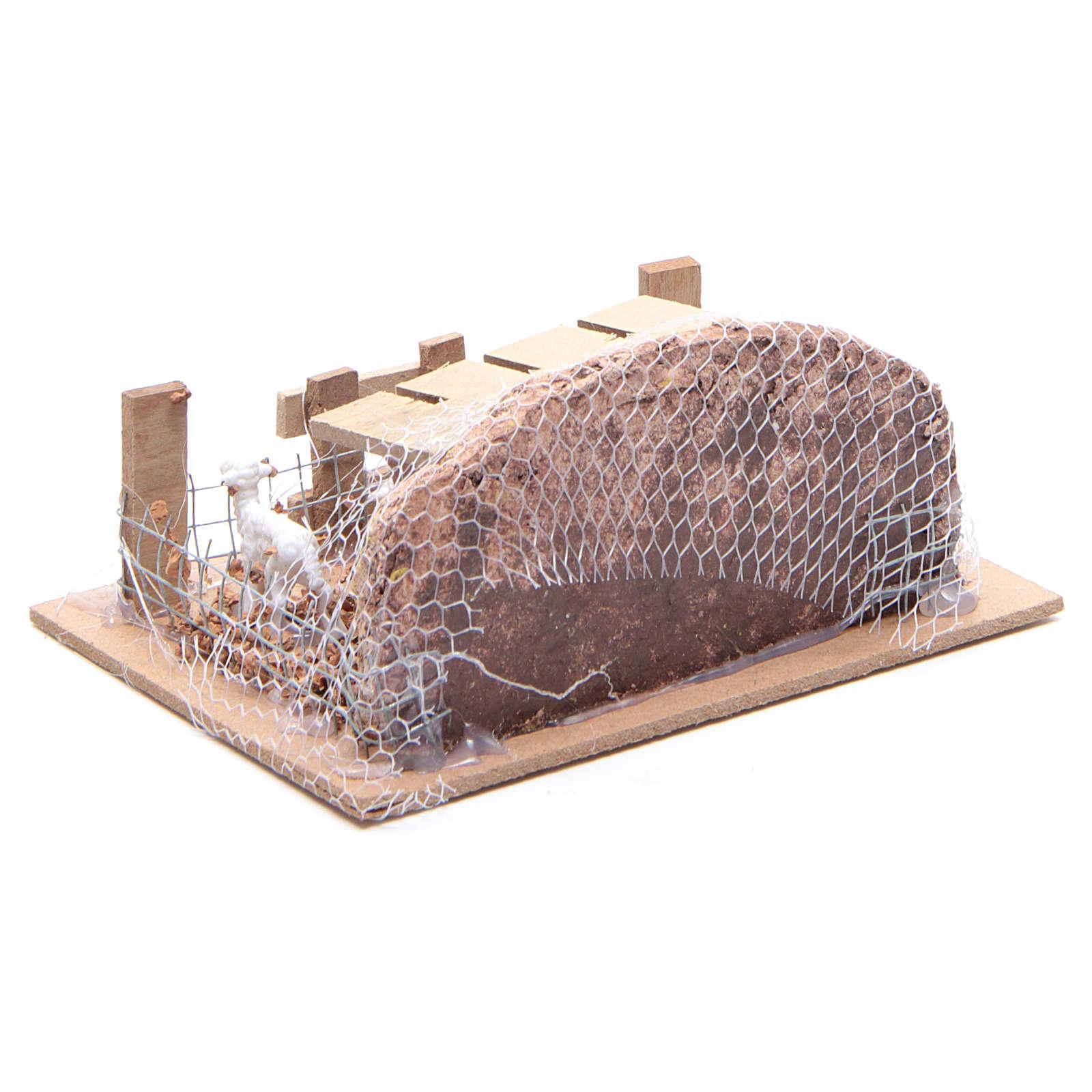 Enclos avec moutons 6x14,5x11 cm pour crèche 3