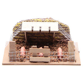 Containment with Pigs 6x14,5x11cm for Nativity s1