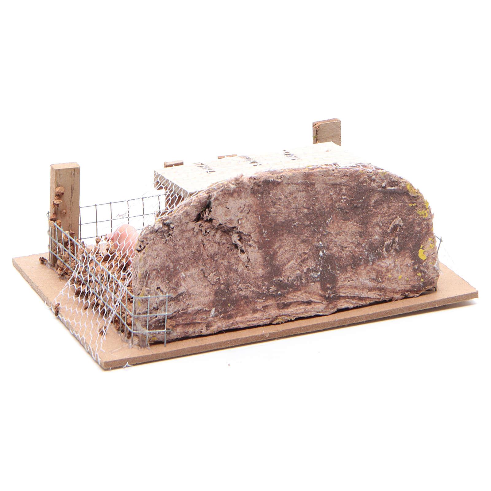Corral con cerdos 6x14,5x11 cm para belén 3