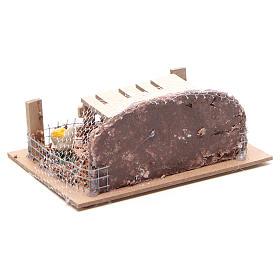 Corral con gallinas 6x14,5x11 cm para belén s3