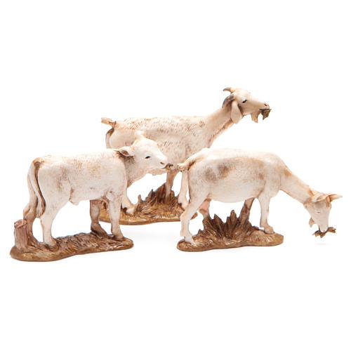 Animales varios 10 cm belén Moranduzzo 3 figuras 2
