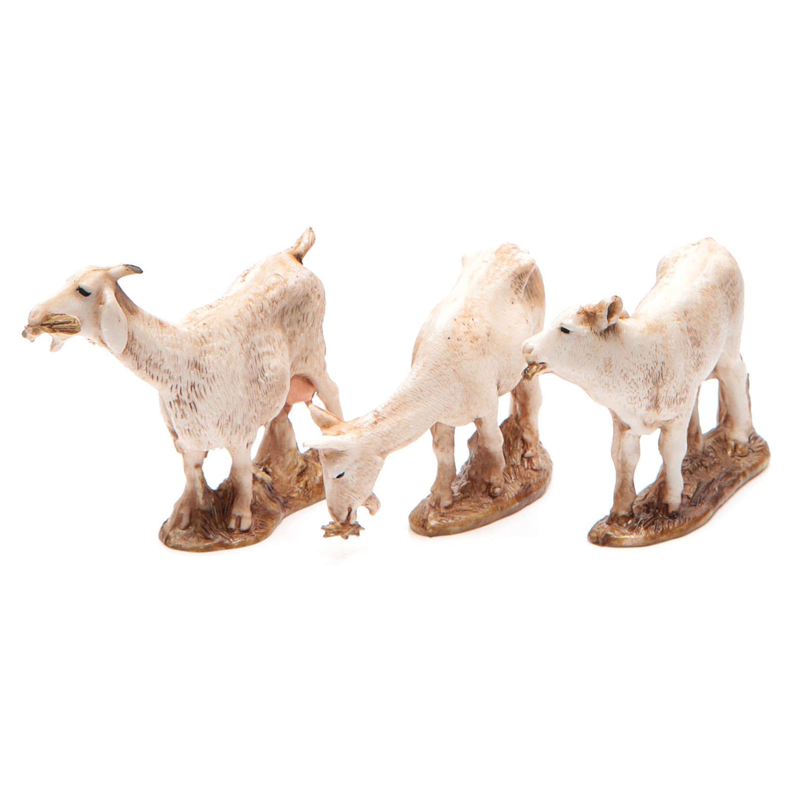 Animais 3 peças para Presépio Moranduzzo com figuras de altura média 10 cm 4