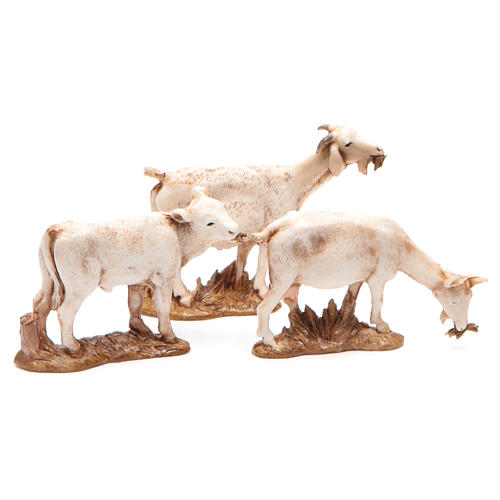 Animais 3 peças para Presépio Moranduzzo com figuras de altura média 10 cm 2