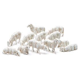 Krippe Moranduzzo: Gemischte Schafen 10cm Moranduzzo 12St.