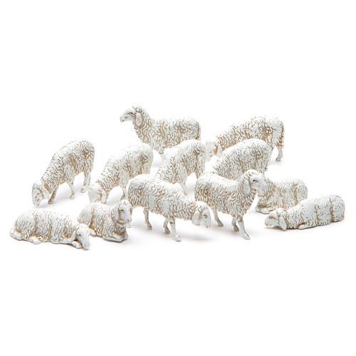 Moutons assortis 10 cm crèche Moranduzzo 12 pcs 1
