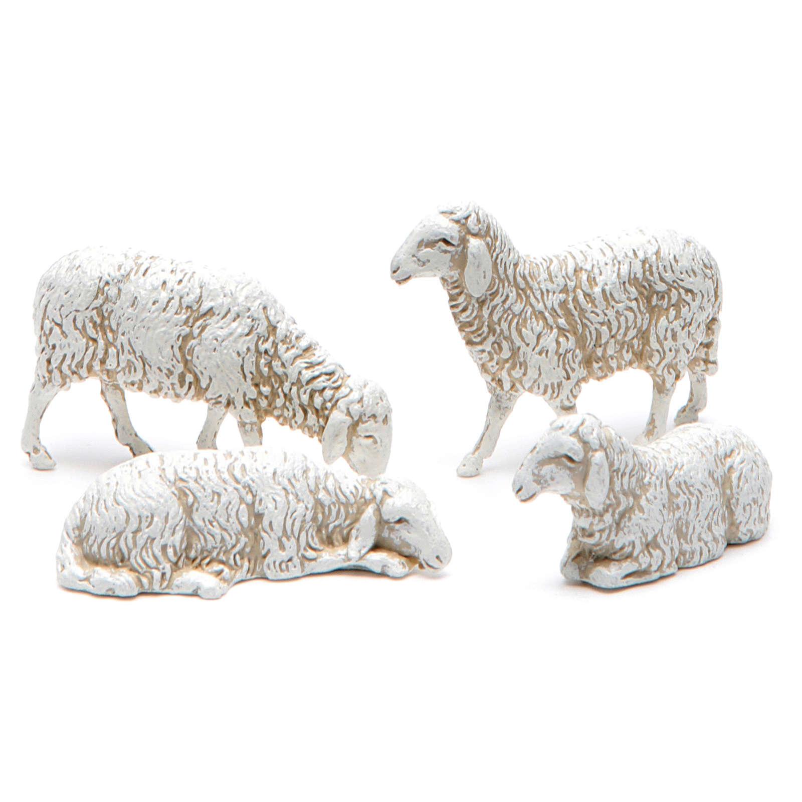 Pecorelle assortite 10 cm presepe Moranduzzo 12 pezzi 4