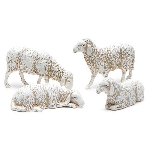 Owce mieszane do szopki 10cm Moranduzzo 12sztuk 2