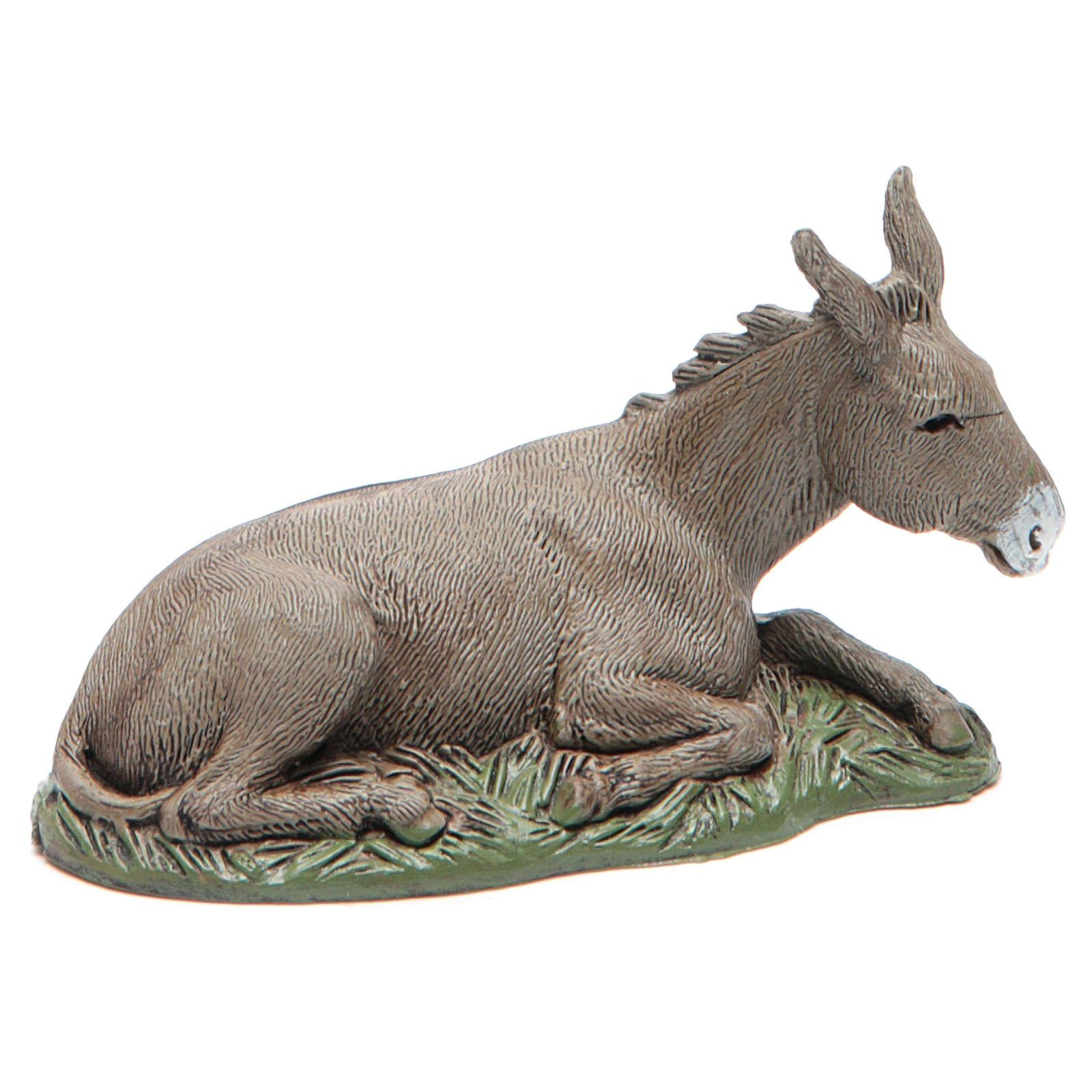 Donkey with base Nativity 10cm Moranduzzo 4