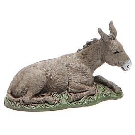 Donkey with base Nativity 10cm Moranduzzo s1