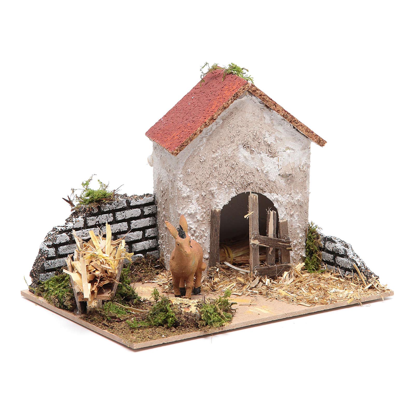 Crib setting with donkey 3