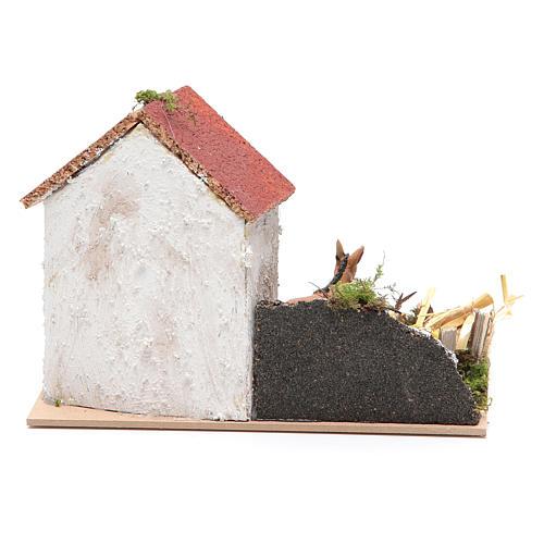Ambientazione contadina con asino 15x20x15 cm 4