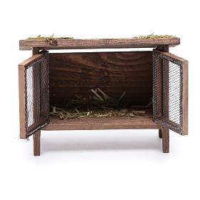 Gabbietta per lepri con paglia e rete - 10x10x5 cm s2