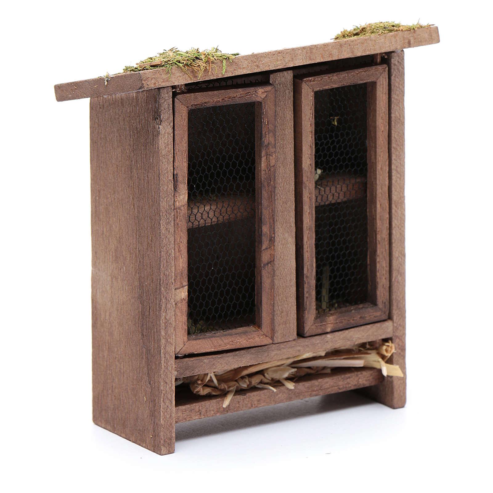 Establo em miniatura para coelhos - 10x10x5 cm 3
