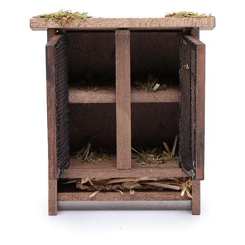 Establo em miniatura para coelhos - 10x10x5 cm 2