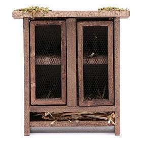 Animaux pour la crèche: Abri pour lapins 10x8x3,3 cm