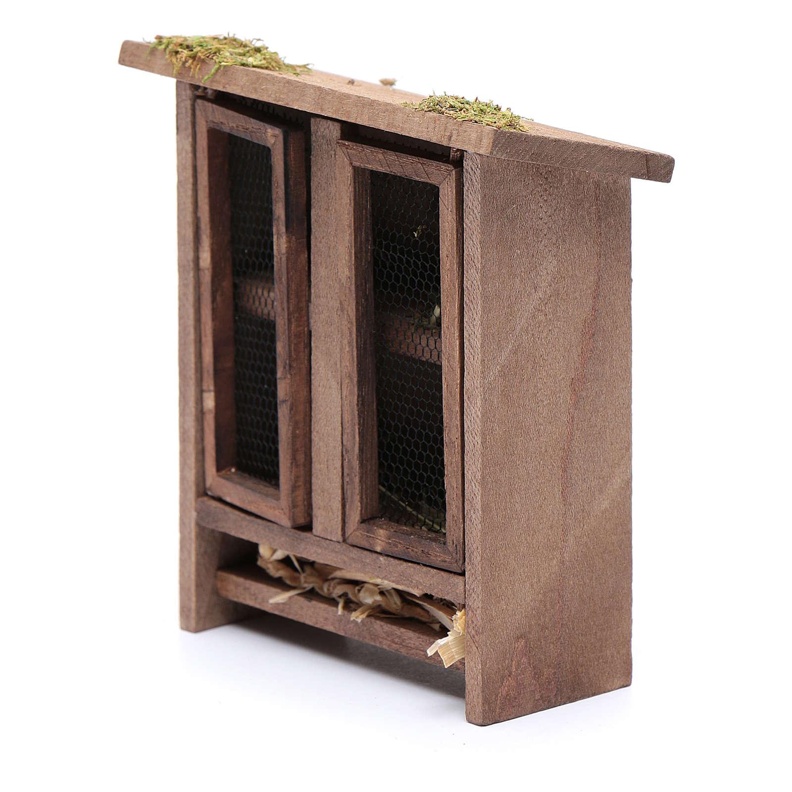 Klatka rozbudowana na zające 10x10x5 cm do szopki 3